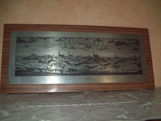 Altes Bild Wandbild Metallbild Auf Holzplatte Wanddeko Hannover Bild