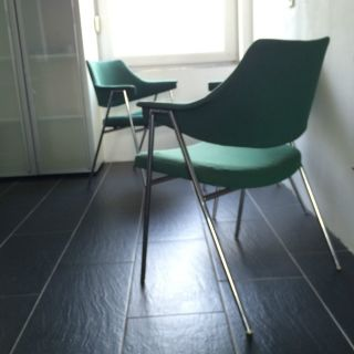 3 Stühle Von Thonet Stuhl S 636 Entwurf V.  Hanno Von Gustedt Stahlrohr 60er Bild
