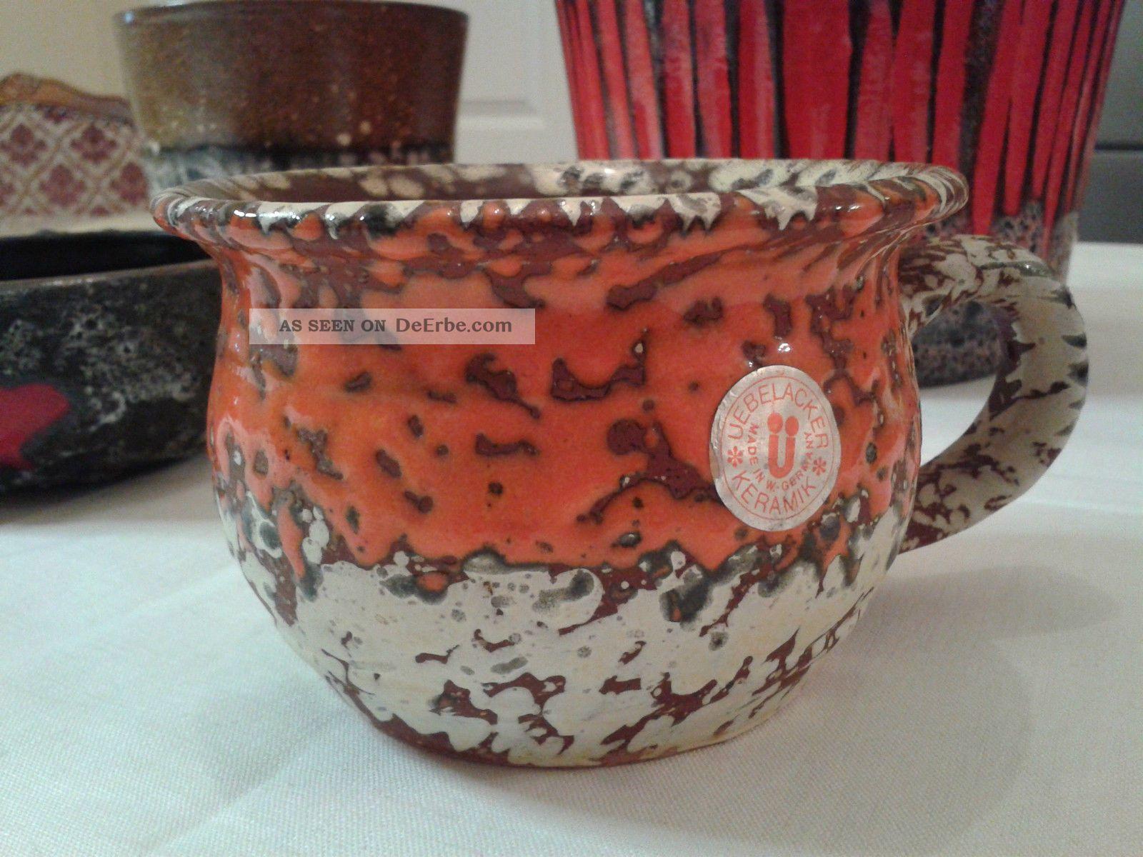 4 fat lava 70er bertopf blumentopf belacker pottery for Blumentopf keramik