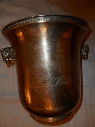 Originaler Louis Roederer Champagnerkühler Versilbert Antik Pferdeköpfe Sammler Bild