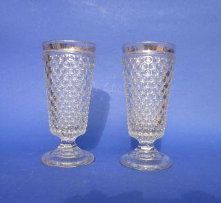 2x Historismus Glas Noppenbecher / Gläser - Pressglas Vergoldet Um 1880 / 1890 Bild