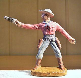 12.  262.  14.  9 Masse Cowboy Mit Revolver Schießend Hopf C 04 Vio - Gra,  1947 - 1965 Bild