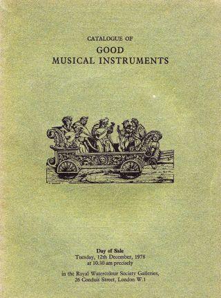 Good Musical Instruments: Violinen,  BÖgen U.  A.  - Sotheby ' S London 78,  Results Bild