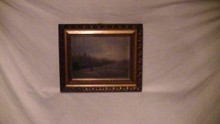 Sehr Altes Ölgemälde Antik,  Romantiker,  Filigrane Malerei,  Detailreich,  Kirche Bild
