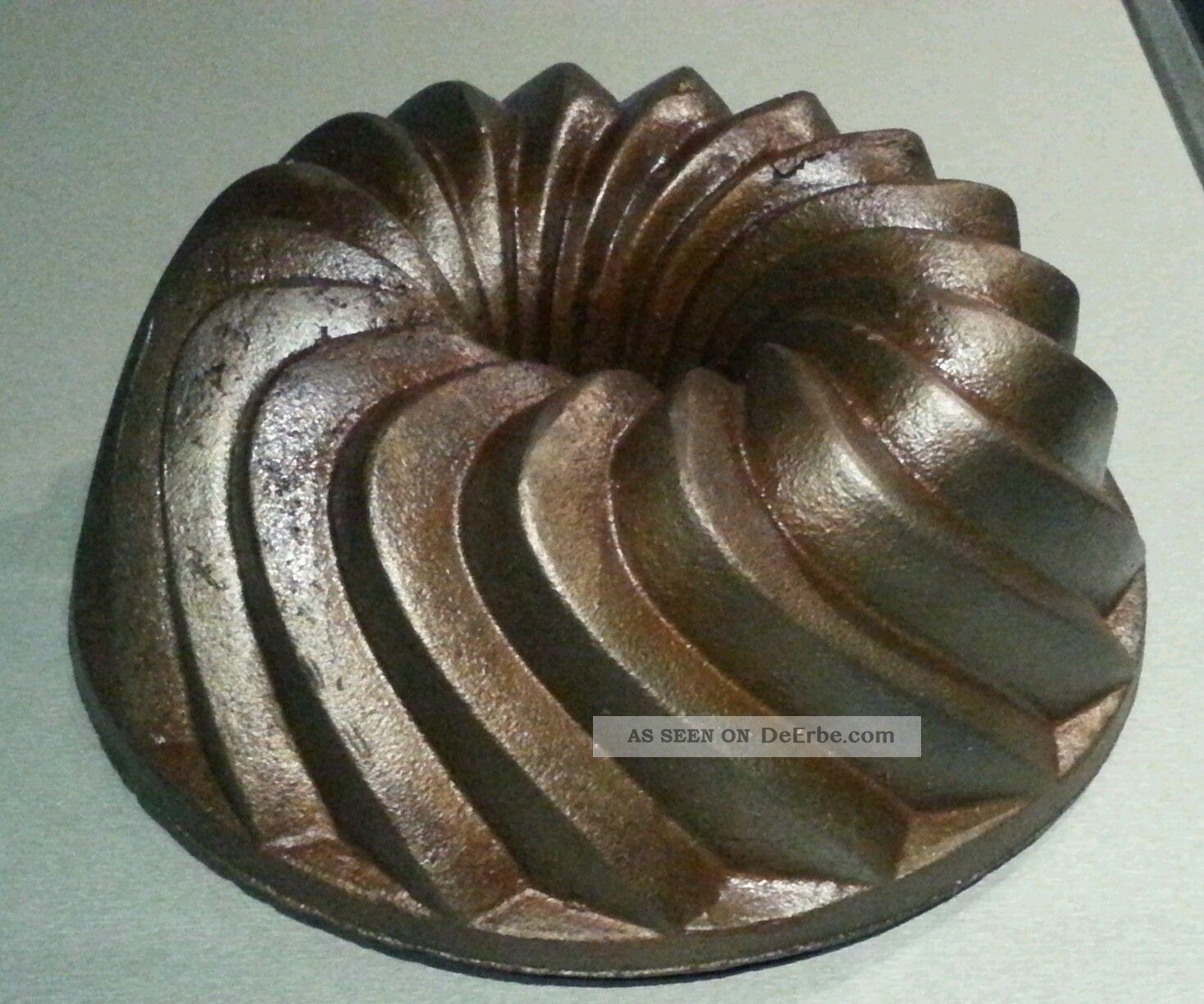 Gusseisen Alte Kuchenform Gugelhupf Backform Bundt Cake