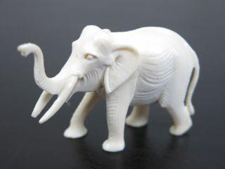 Antike Elefant Figur,  Skulptur,  Aus Bein,  Weiß,  Um 1900,  Handarbeit Bild