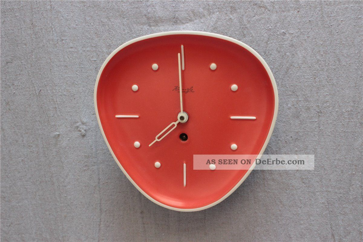 kienzle wanduhr orange 50er jahre nierentisch ra. Black Bedroom Furniture Sets. Home Design Ideas