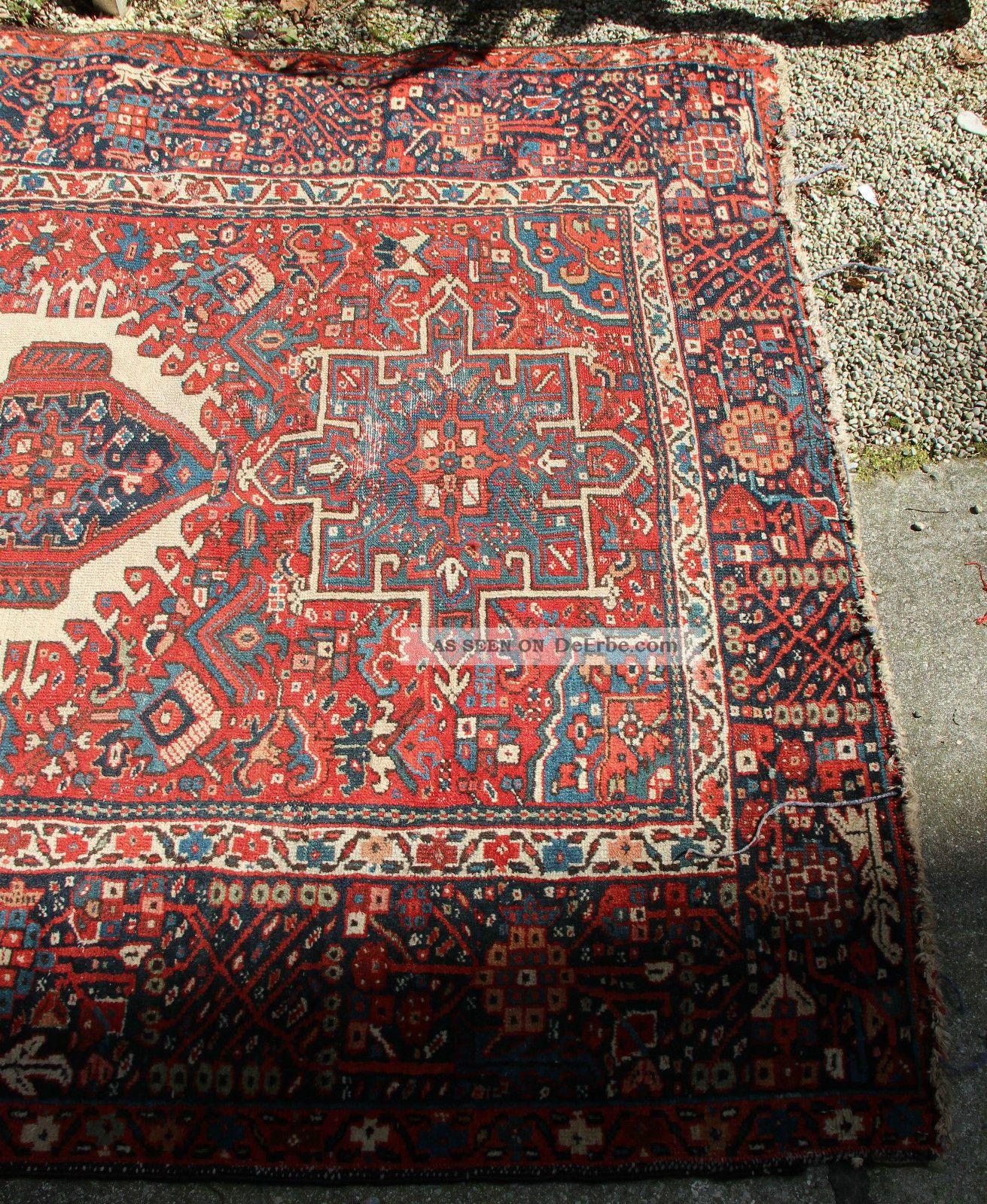 antiker persischer gashgai teppich l ufer um 1880 antique carpet 145 x 185cm. Black Bedroom Furniture Sets. Home Design Ideas