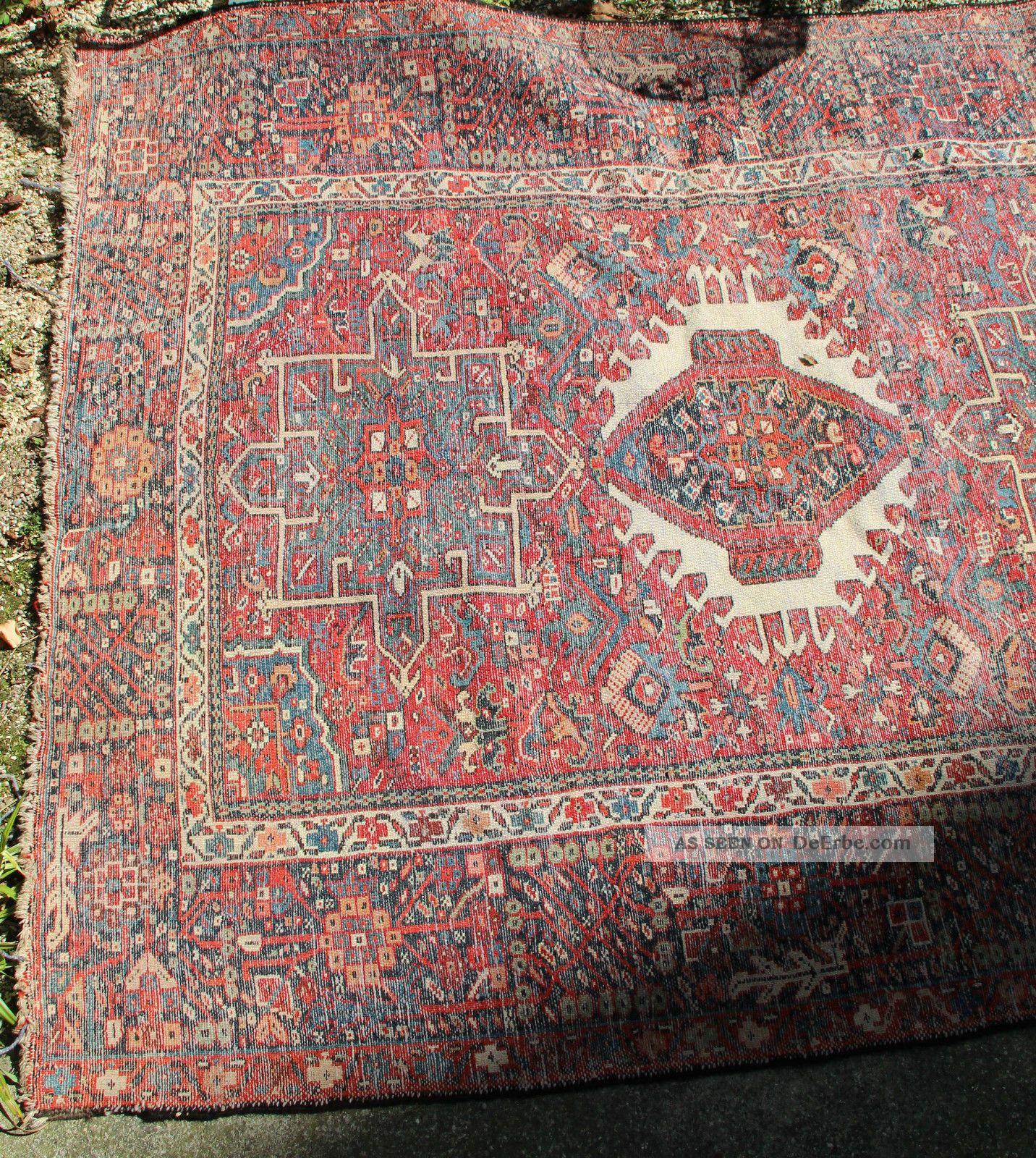 antiker persischer gashgai teppich l ufer um 1880 antique. Black Bedroom Furniture Sets. Home Design Ideas
