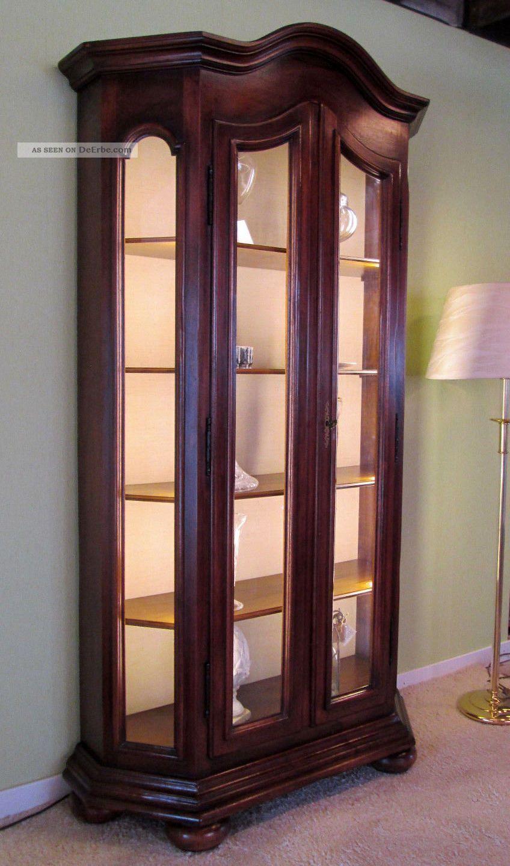 Vitrinenschrank Landhaus Pleasant Wohnzimmer Schrankwand Antik Vitrinen