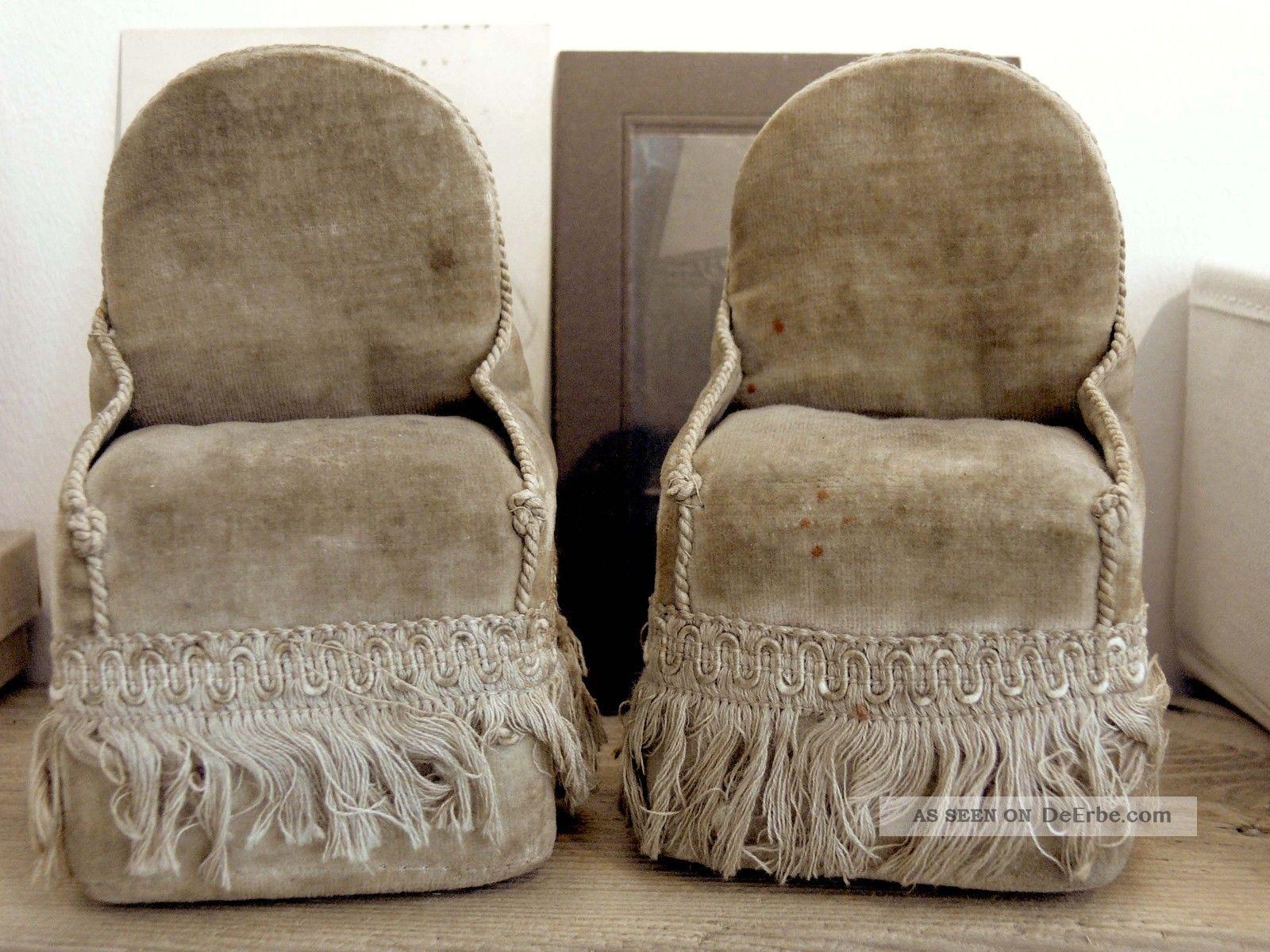 2 sehr alte antike sessel f r puppenstube deko shabby vintage brocante 1880er. Black Bedroom Furniture Sets. Home Design Ideas