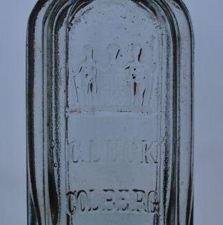 Glasflasche Flasche C.  Lück Colberg Apothekerflasche Bild