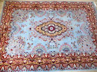 Orientteppich Kerman Indien Ca.  40 Jahre Wolle Auf Baumwolle 235x169 Cm Bild