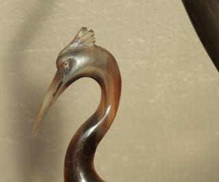 Vintage Mid Century Paar Reiher Kraniche Horn Asia Design Bild