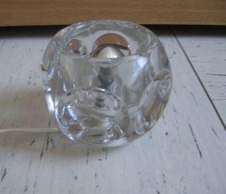 Cube Vintage Tischlampe Pressglas 70er Peil Und Putzler Leuchte Glas Klassiker Bild