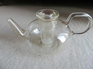 Jenaer Glas Jena Therm Wilhem Wagenfeld 50er Jahre Teekanne Mit Filter Bild