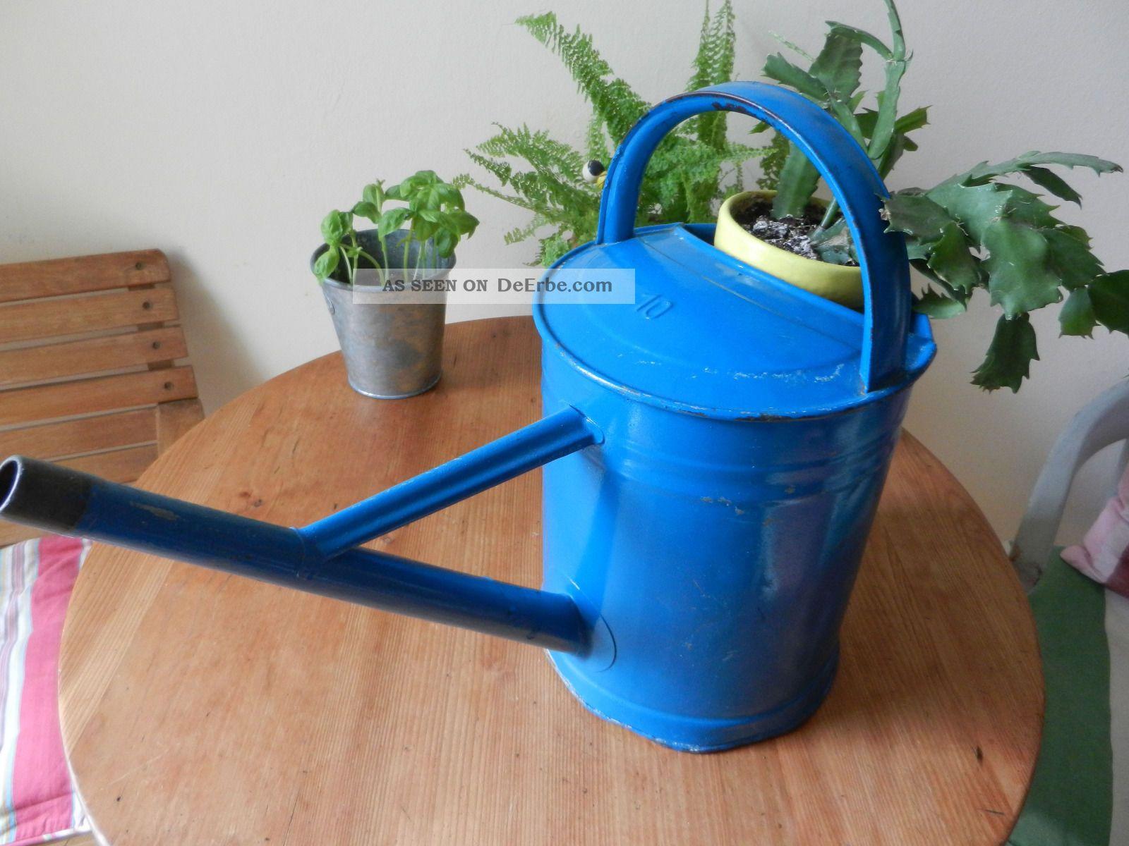 Alte shabby zink gie kanne gartendeko kanne blau vintage landhaus nostalgie diy - Shabby gartendeko ...