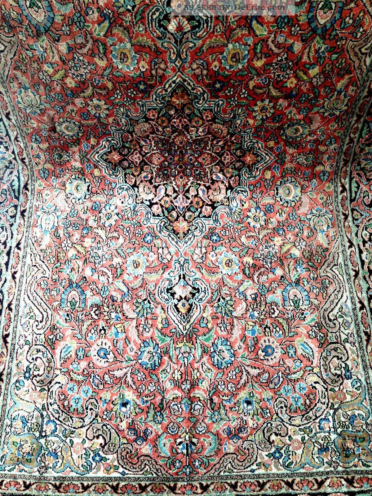 teppich handgekn pft seide kaschmir 247x153 cm carpet tappeto tapis top. Black Bedroom Furniture Sets. Home Design Ideas