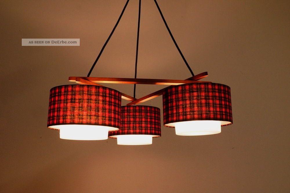 midcentury deckenlampe teak 3 schirme 3x e14 modern danish design 60er sixties. Black Bedroom Furniture Sets. Home Design Ideas