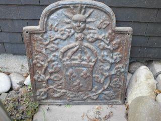 Gusseiserne Ofenplatte Mit Motiv 1667 Bild