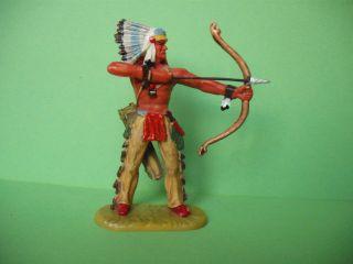 Elastolin Hausser Indianer Echt Mit Bogen Schießend Bv Ii,  7 Cm Bild