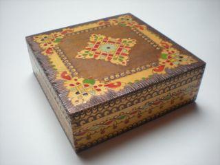 70er 80er Schatulle Holzkästchen Schmuckkästchen Schmuckkasten Balkan Handarbeit Bild