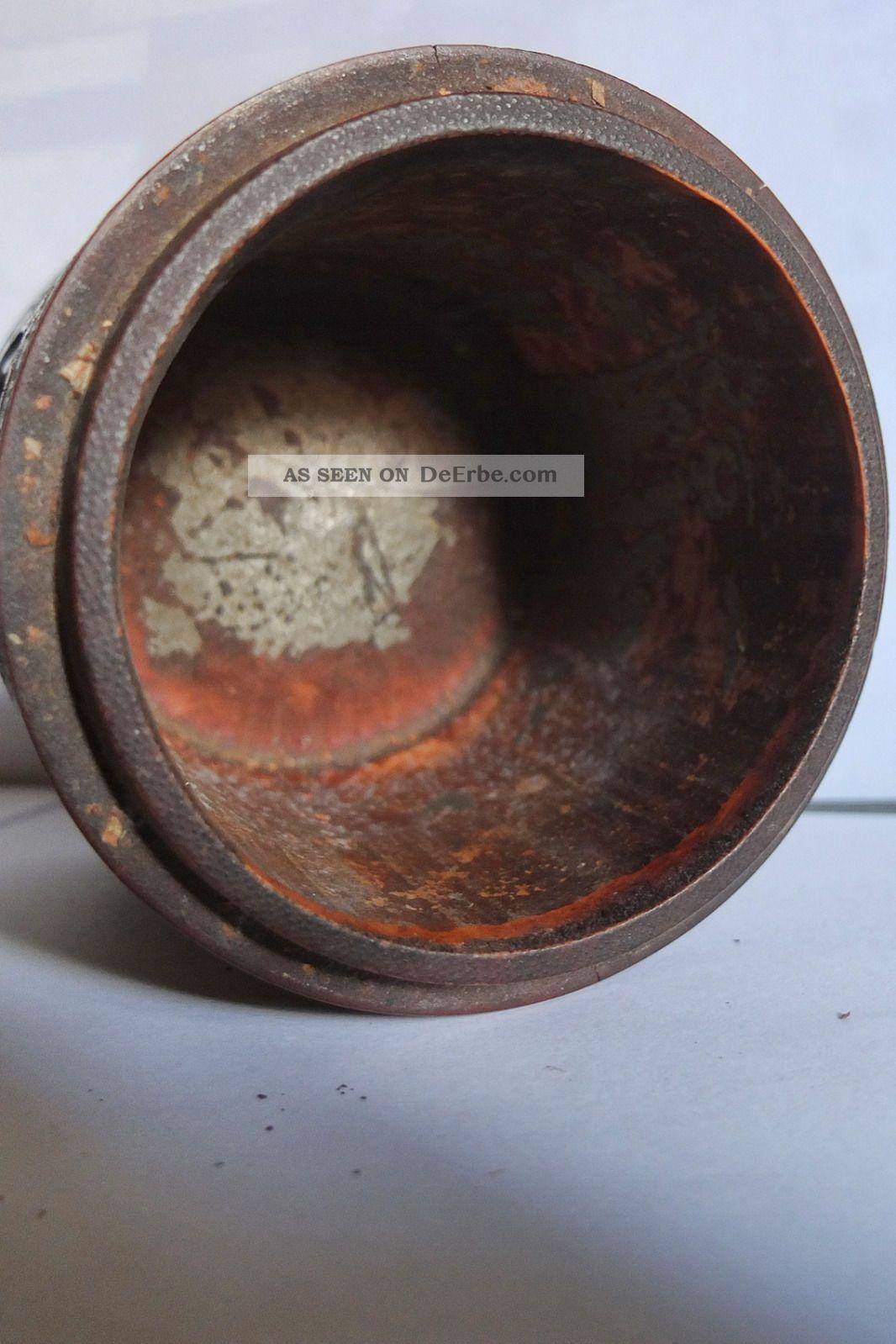 alte antike holzbox zylinder mit filigranen schnitzereien 16 cm mit deckel. Black Bedroom Furniture Sets. Home Design Ideas