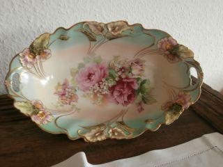 Rosen Und Maiglöckchen,  Ovale Schale,  Ein Traumteil,  Jugendstil,  Top Bild
