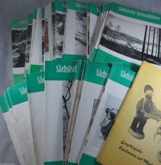 6 Kg Sächsische Heimatblätter 1960/70er Jahre Robur Zittau Zöblitz Pobershau Bild