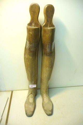 Nr.  4450.  Ein Paar Alte Stiefelspanner Holz Stiefelspanner Bild