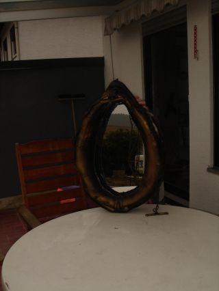 Altes Pferdekummet Mit Spiegel Bild