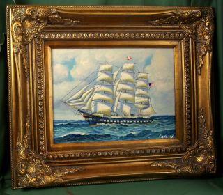 Finedecoart Maritimes GemÃlde Segelschiff Schiff Dreimaster Segler Boot Ölbild Bild