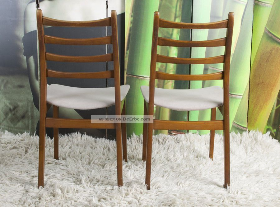 2x teak stuhl d nisches design 50 60er sixties vintage dining chair chaise. Black Bedroom Furniture Sets. Home Design Ideas