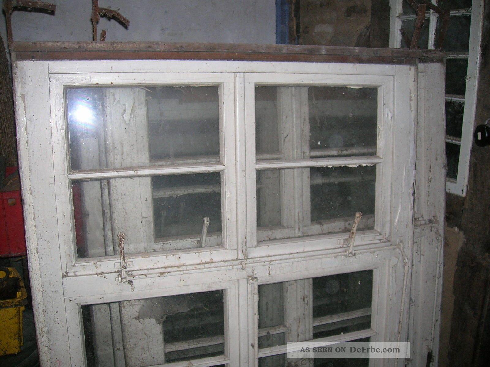 7 alte holzfenster sprossenfenster um 1900 2 fl gel oberlicht. Black Bedroom Furniture Sets. Home Design Ideas