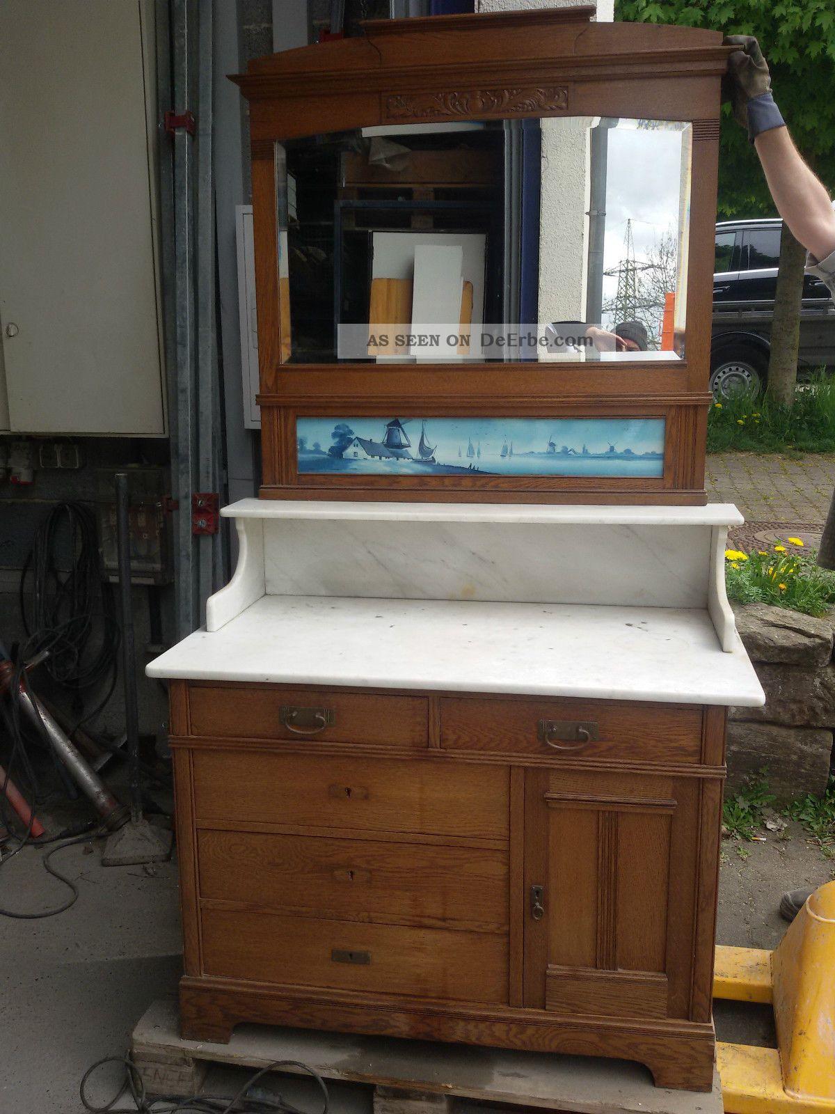 spiegelkommode frisierkommode waschkommode antik mit marmorplatte