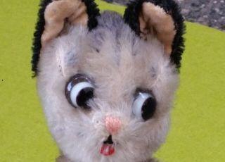 Schuco Antikspielzeug Hörzu Katze Biegeglieder Mohaer 19cm 50erjahre Bild