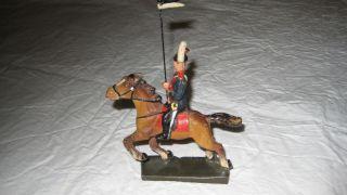 Massefigur Soldat Zu Pferd (lineol) Bild