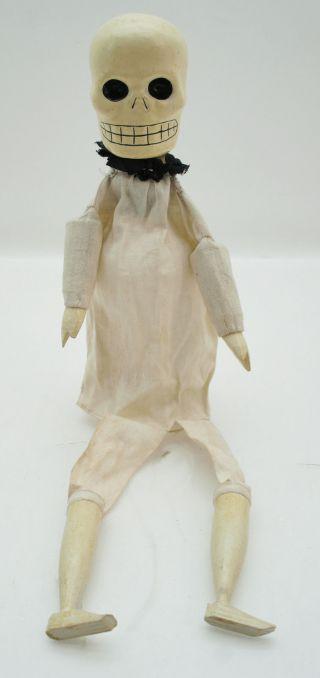 Totenkopf Kasperle Marionette Figur Handpuppe Theater Antik / Alt Bild