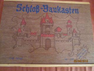 Antikes Holzspielzeug,  Schloß - Baukasten Bild