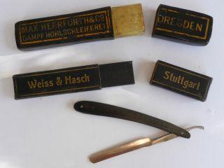 Rasiermesseretui,  Raisermesser,  Etuo Weiss & Hasch,  Max Herfurth & Co Um 1930 Bild