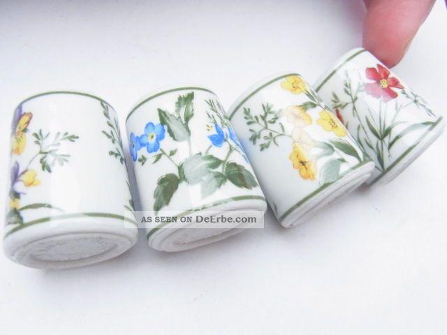 kleine porzellan vasen mit blumen motiv f r puppenstube made in germany. Black Bedroom Furniture Sets. Home Design Ideas