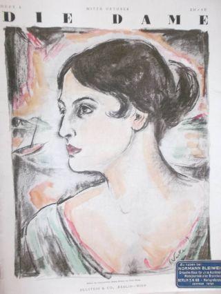 Heft 1.  Okt.  1919 Die Dame Zeitschrift 20er Jahre Kostüm Und Hut Mode Bild