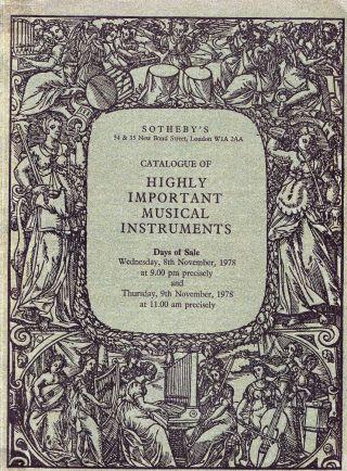 Highly Important Musical Instruments: Stradivari U.  A.  - Sotheby ' S London 78 Bild