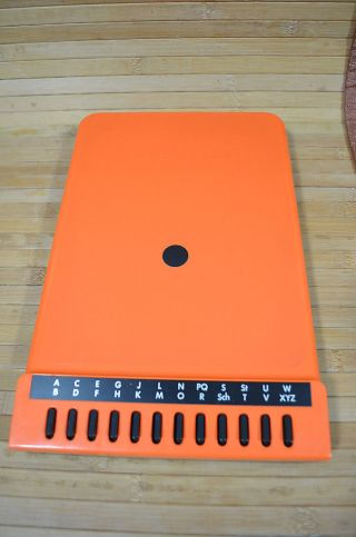 Vintage Telefonregister 70er Jahre Ablage Arlac Confon 2000 Orange Bild