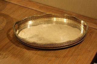 Jugendstil Art Deco Tablett England Sheffield Versilbert ? Silver Art Nouveau Bild