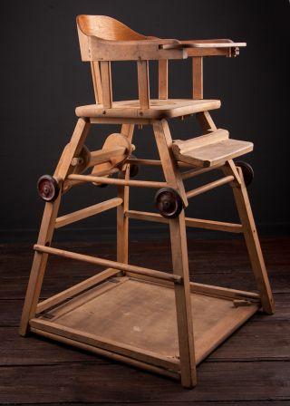 Alter Kinderstuhl Babystuhl Hochstuhl Klappstuhl Stuhl Mit Spieltisch Bild