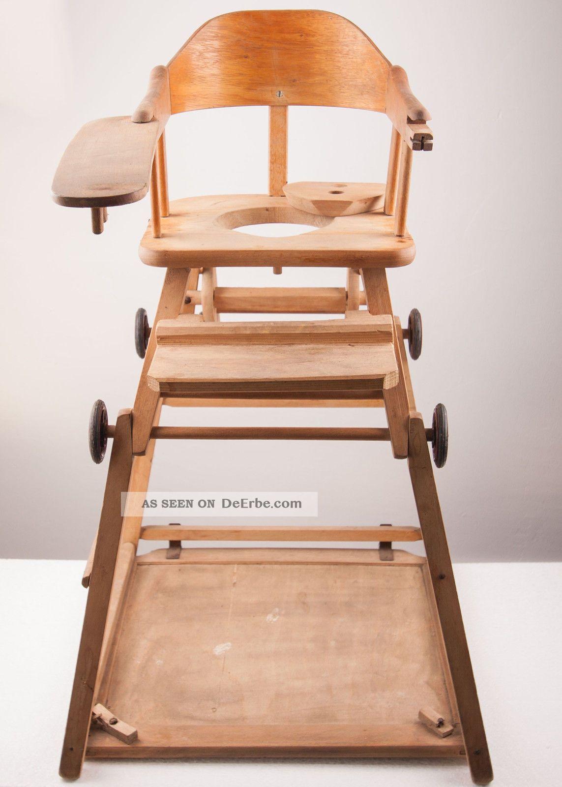 alter kinderstuhl babystuhl hochstuhl klappstuhl stuhl mit spieltisch. Black Bedroom Furniture Sets. Home Design Ideas