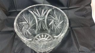 Edle Große Schwere Vase Sektkühler Pokal Aus Bleikristall Schleuderstern 3,  4 Kg Bild