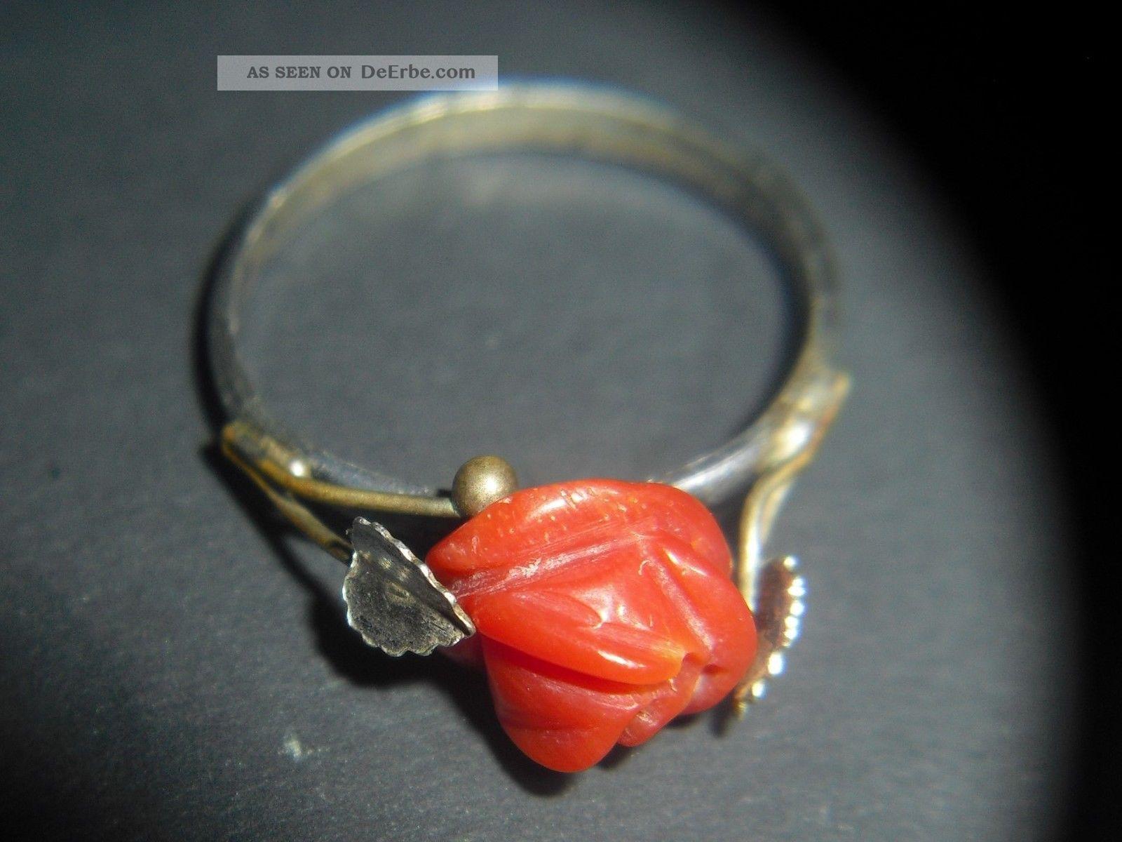 ring mit roten korallen