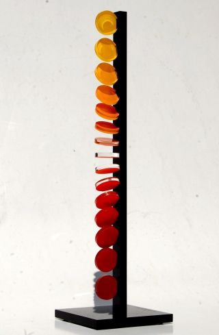 Op Art,  Objekt,  Konkrete Kunst,  Acrylglas,  Handsigniert,  H.  Heinecke,  D38 Bild